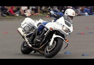 白バイのタイムトライアル!警察だけのモータースポーツ全国白バイ安全運転競技大会を知っていますか?
