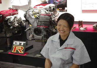 日産GT-Rのエンジンを作る、将来有望な若手技術者「匠」の女性候補生に迫る
