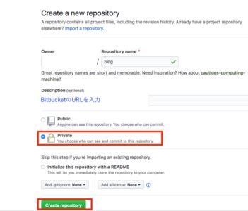 GitHubのリポジトリを新規作成
