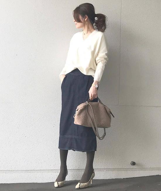 ミリタリーデニムタイトスカート