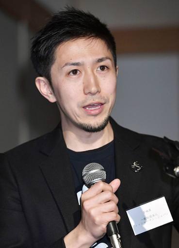活動報告する「フィッシャーマン・ジャパン」の土合和樹事務局次長