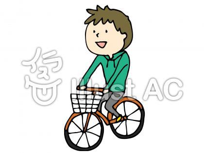 自転車にのった少年のイラスト