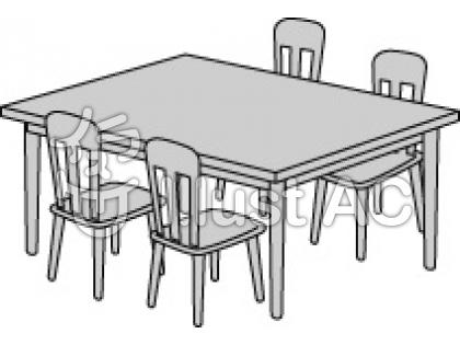 kitchen table and chairs clip art