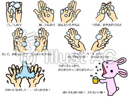 手洗いうがいのすすめのイラスト