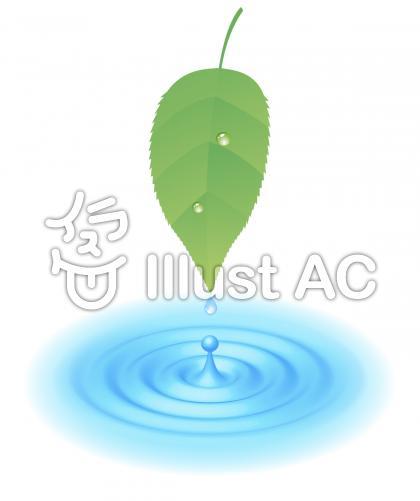 エコイメージ水滴のイラスト
