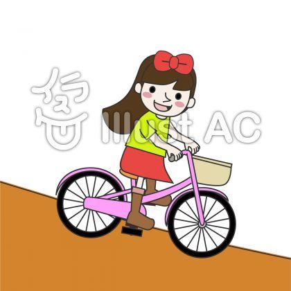 自転車に乗る女の子イラスト ...