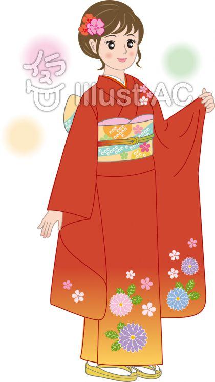 振袖 イラスト Utsukushi Kami