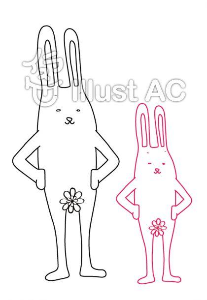 きもらび ウサギの親子