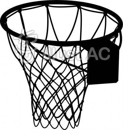 バスケットゴール-001イラスト ... : 網飾り : すべての講義