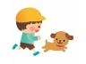 男の子と犬