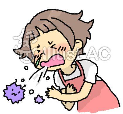 風邪で咳、鼻水