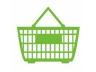 買い物カゴ(グリーン)