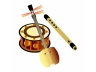 日本の楽器(三味線と横笛と鼓)