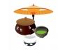 茶の湯(茶碗と和傘)