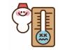 雪だるまと気温計