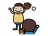 子供とキャッチボール