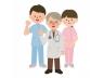 医療-医師と看護師たち(全身)