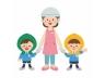 ヘルメットと防災頭巾