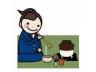 中高生の一日-茶道部