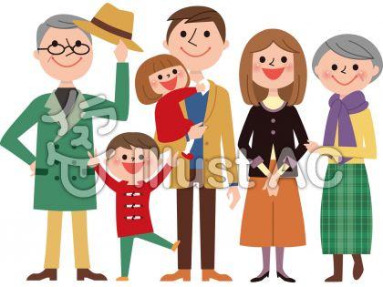 3世代家族全身(冬服)