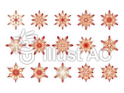 雪の結晶-赤