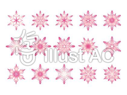雪の結晶-ピンク