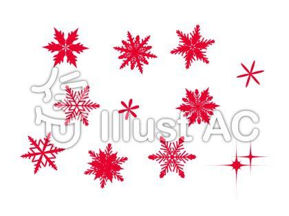 雪の結晶 赤 2