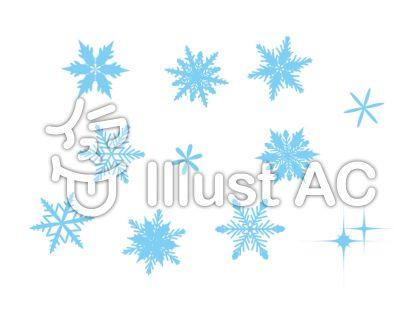雪の結晶 水色 2