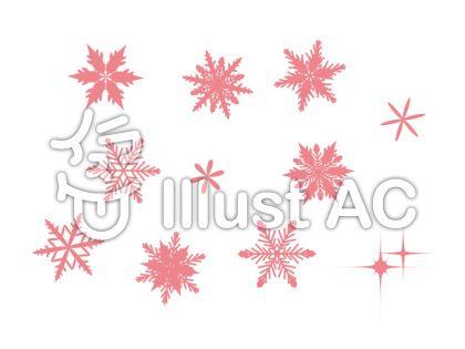 雪の結晶 ピンク 2