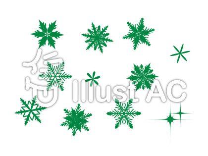 雪の結晶 緑 2