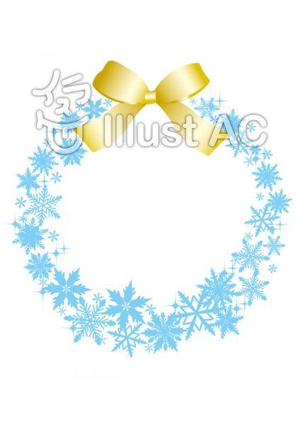 雪の結晶リース 水色