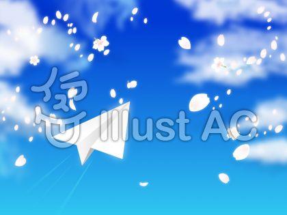 青空と桜吹雪と紙飛行機02
