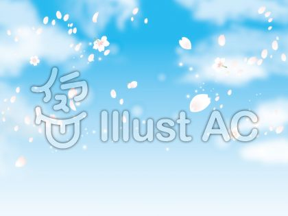 桜と空と雲01