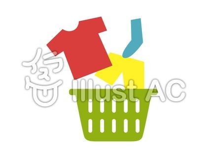 洗濯カゴと洗濯物