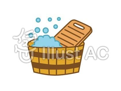 洗濯桶と洗濯板