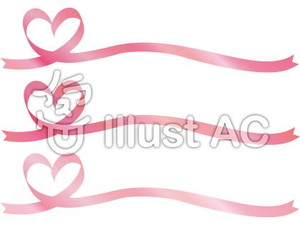 リボンハートピンクりぼんフレーム枠春桜色