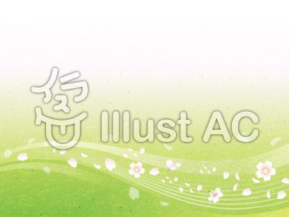 桜舞う流水イメージ和紙03