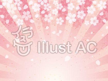 お祝い桜和紙放射背景02
