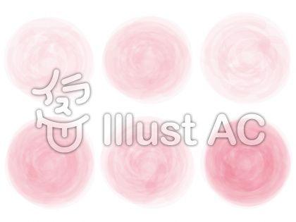 桃色ピンク色手書き水彩画アナログ風飾り枠