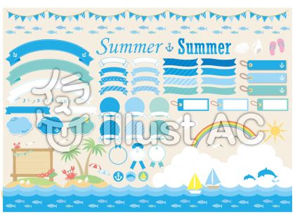 夏の海の素材いろいろ