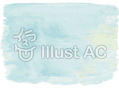 水色青色ブルー手書き水彩画アナログ飾り枠