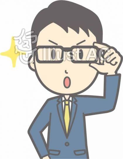 スーツ男性b-眼鏡キラリ1-バスト
