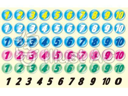 数字ボタンいろいろ素材集【CS2】