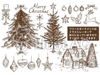 クリスマスパーツ手書き