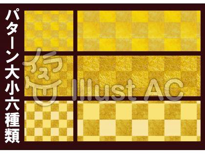 金色屏風風背景テクスチャ市松模様パターン