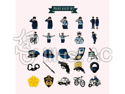 警察のイラスト