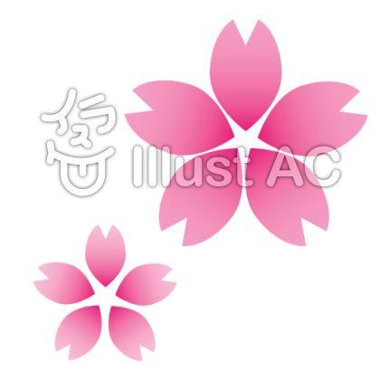 桜の花びら(グラデーションver)