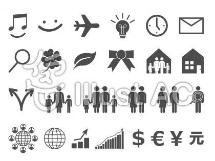 アイコンセット-家族・ビジネス