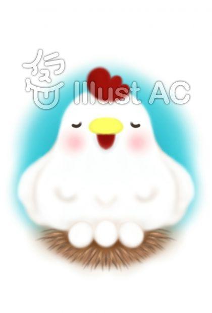 ニワトリとタマゴ(青)