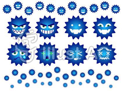 青バイキン(ウイルス)セット